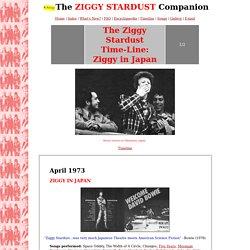 The Ziggy Stardust Companion: Ziggy in Japan: April 1973 (1/2)