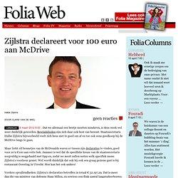 Zijlstra declareert voor €100,- aan McDrive