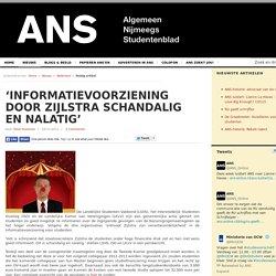 'Informatievoorziening door Zijlstra schandalig en nalatig'