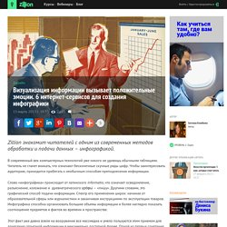 Дизайн - Визуализация информации вызывает положительные эмоции. 6 интернет-сервисов для создания инфографики