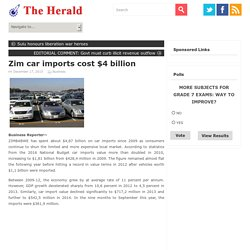 Zim car imports cost $4 billion