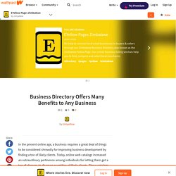 Business Directory Offers Many Benefits to Any Business