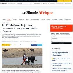 Zimbabwe «marchands d'eau»