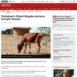Zimbabwe's Robert Mugabe declares drought disaster