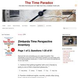 Zimbardo Time Perspective Inventory