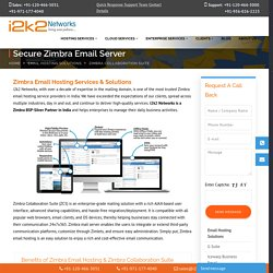 Zimbra Email Hosting Services in India