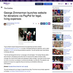 George Zimmerman launches website for donations via PayPal for legal, living expenses | The Cutline