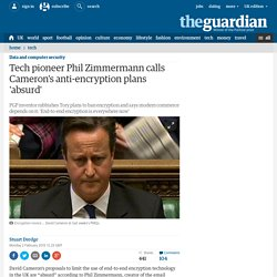 Tech pioneer Phil Zimmermann calls Cameron's anti-encryption plans 'absurd'
