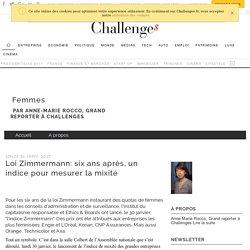 Loi Zimmermann: six ans après, un indice pour mesurer la mixité - Femmes