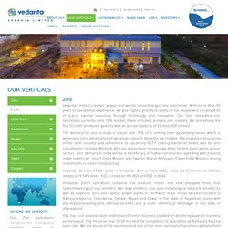 Largest Zinc Producer in India - Vedanta Limited