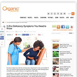 5 Zinc Deficiency Symptoms You Need to Know