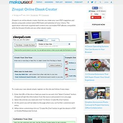 Zinepal: Online Ebook Creator