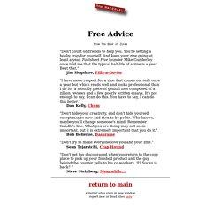 Zines, E-Zines: Free Advice