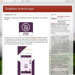 PDF Maker Android App Features