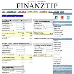 Finanzmathematik: Zinseszinsrechnung