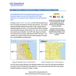 Zip Code Shapefiles - US DataMart