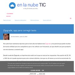 Zipgrade, app para corregir tests