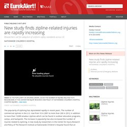 New study finds zipline-related injuries are rapidly increasing