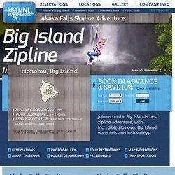 Big Island Zipline in Akaka Falls Hawaii with Skyline Eco-Adventures