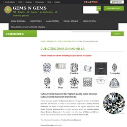 Buy Quality Cz Diamond Stones Online