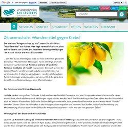 Zitronenschale: Wundermittel gegen Krebs? - gesundheitspark.de - Gesundheitsverzeichnis für Bad Segeberg und Umgebung