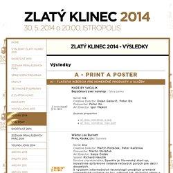 Zlatý klinec - Zlatý klinec 2014 - výsledky