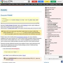 Znacznik FRAME - Ramki