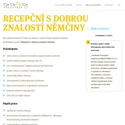 Volná pracovní místa - Personální agentura jinak