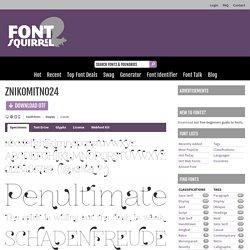 ZnikomitNo24 Font Free by GLUK fonts » Font Squirrel