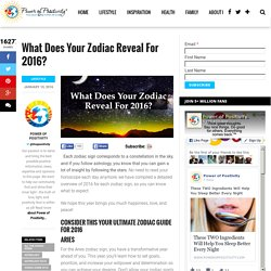 Zodiac 2016: What Does this Year Have in Store for You?