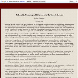 Zodiac and Cosmology in Gospel of Judas - 12 signs 360 degrees Processions