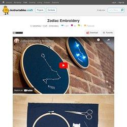 Zodiac Embroidery : 6 Steps
