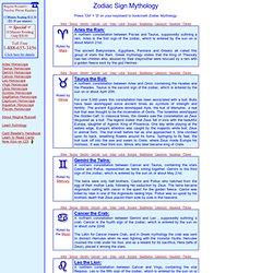 Zodiac Mythology