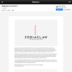 Zodiaclaw ( Free Font ) on Behance