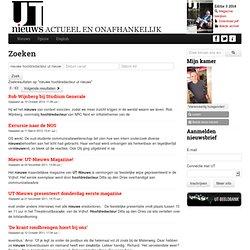Nieuwe hoofdredacteur UT-Nieuws