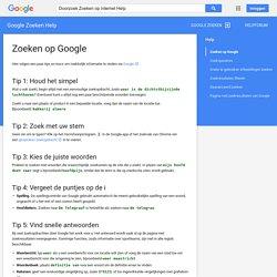 Zoeken op Google - Google Zoeken Help