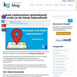 Lokale zoekmachine optimalisatie = lokale bekendheid!