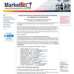 ZoekMachine Optimalisatie Handleiding SEO Gids Google SEO Guide, MarketBizz, Diessen 5087 BB