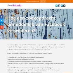 Hoe een zoekopdracht onmiddellijk van Facebook verwijderen?