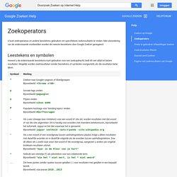 Zoekoperators - Google Zoeken Help