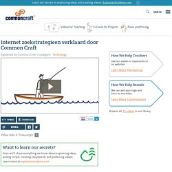 Internet zoekstrategieen verklaard door Common Craft Explained by Common Craft