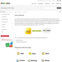 Zoho CRM API