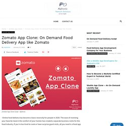 On Demand Food Delivery App like Zomato