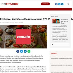 Zomato set to raise around $70 Mn from Temasek