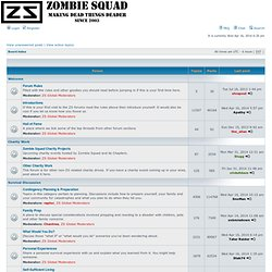 Zombie Squad • Index page