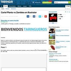 Cartel Plants vs Zombies en Illustrator