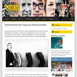 Zomerinterview (6): Topvrouw Thecla Schaeffer