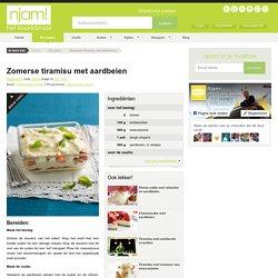 Recept voor zomerse tiramisu met aardbeien