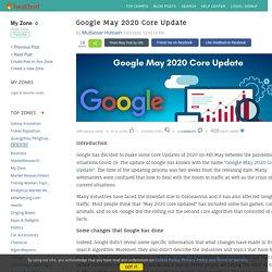My Zone - Google May 2020 Core Update
