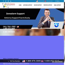 1-800-976-3009 : Zonealarm Antivirus Support